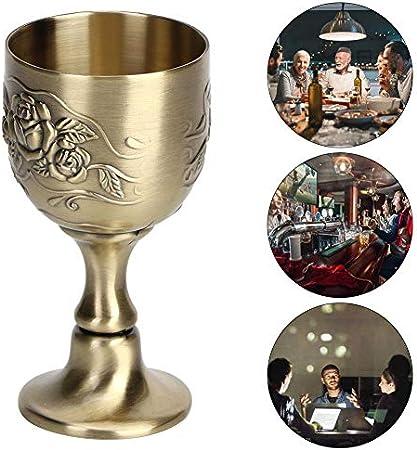 Copa de vino tinto, Copa de vino vintage europea Copa de vino tinto de metal Arte Decoración artesanal Adornos para el hogar Copa de vino blanco