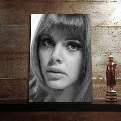 Wicker Island Man (Seasons Britt EKLAND - Original Art Print (Large A3 - Signed by The Artist) #js003)