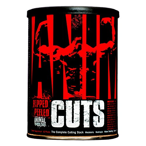 Animal Cuts - All-in-one Complete Fat Burner Supplement with Thermogenic and Metabolism Support - Energy Booster, Raspberry Ketones and Thyroid Complex - 42 Packs ()