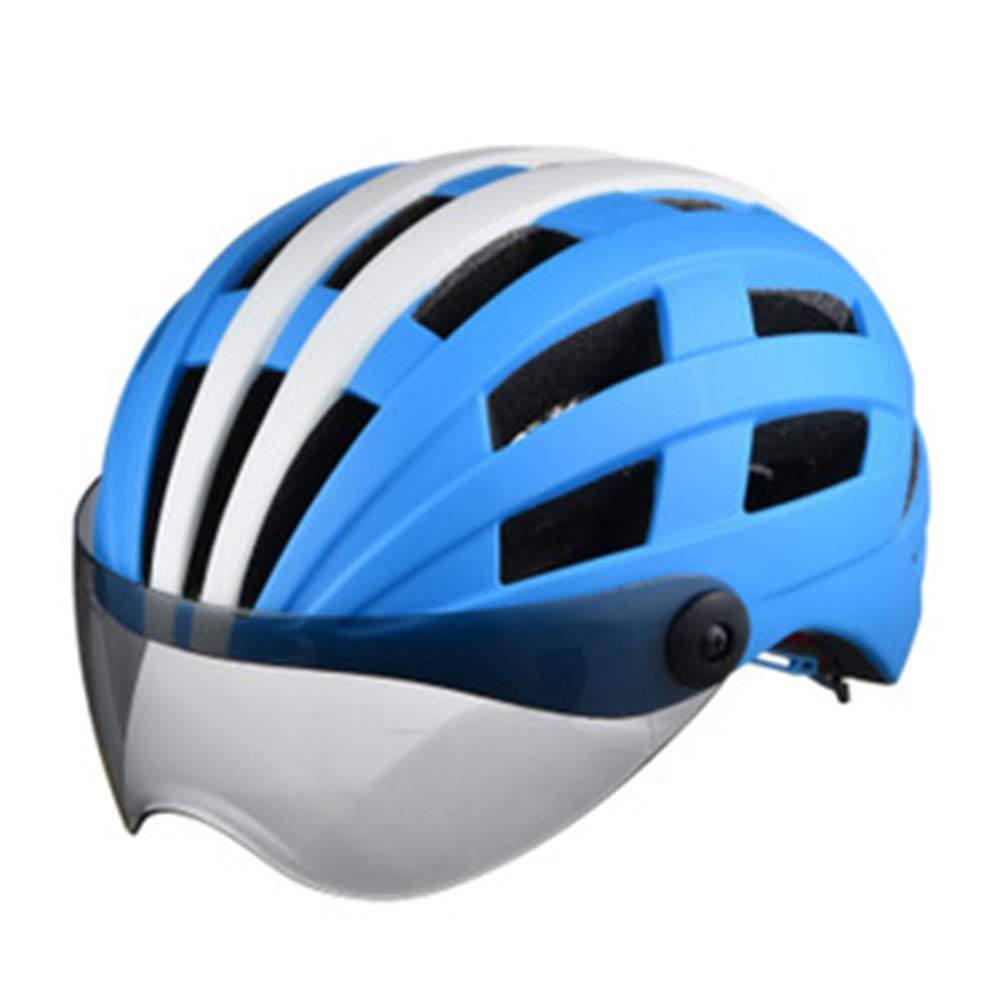 DRAGDE Helmet with Goggles, One-Piece Bicycle Helmet, Frosted Helmet, Roller Skating Helmet, Three-Speed Adjustment Head Circumference