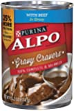 Purina ALPO Brand Dog Food Gravy Cravers With Beef in Gravy Wet Dog Food, 13.2 Ounce Can, Pack of 12