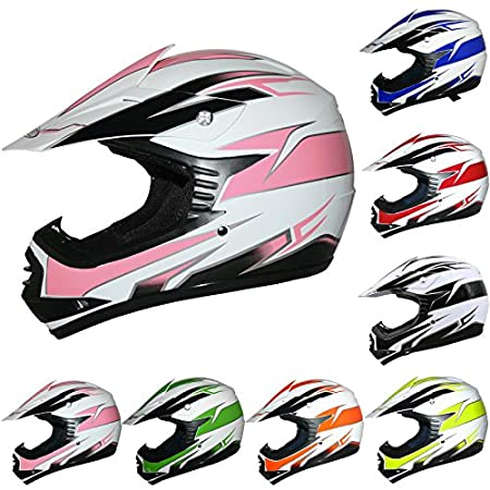 Leopard LEO-X16 Kids Motocross Helmet Children Quad Bike Crash Motorbike ATV Helmet - Green S (49-50cm) Touch Global Ltd