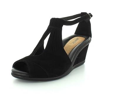 Earth Womens Caper Black Sandal - 6