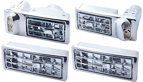 CPW (TM) Kenworth Chrome AC Vents Complete Set 41104 41103 41105
