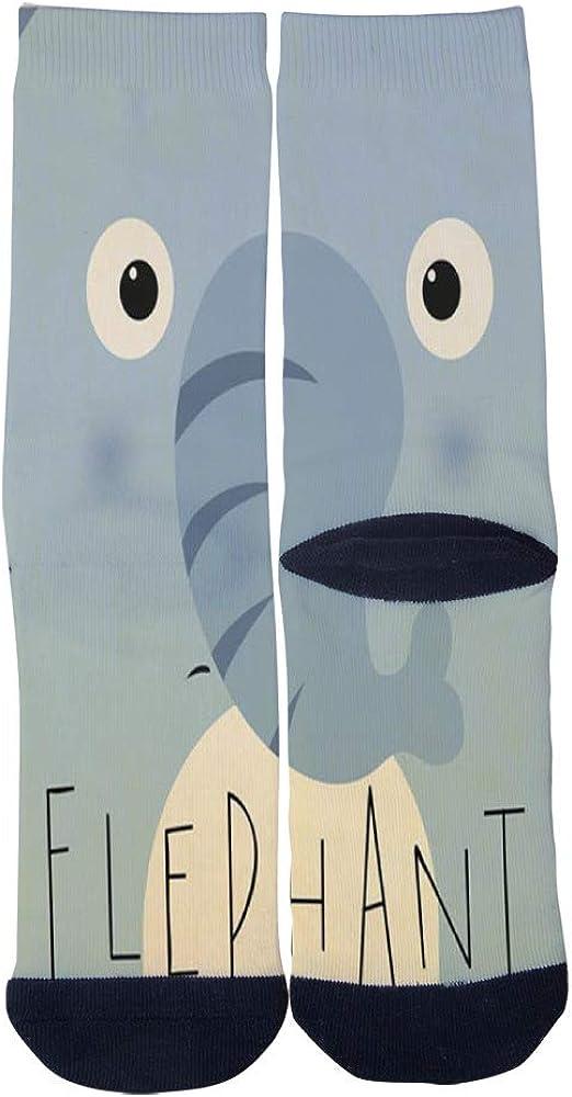 Cute Elephant Art Socks Mens Womens Personality Custom Casual Socks Creative Fashion Sports Crew Socks