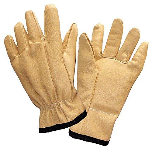 Anti-Vibration Gloves, Leather, L, PR