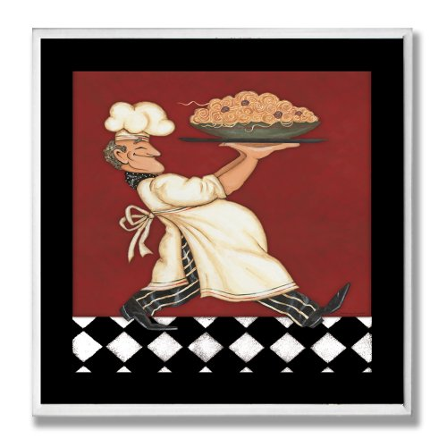 The Stupell Home Decor Collection Chef with Pasta Wall Plaque