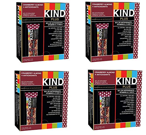 KIND Bars, Cranberry Almond plus Antioxidants with Macadamia Nuts, Gluten Free, Low Sugar, 1.4oz, 48 Bars by KIND (Image #1)