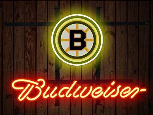 "Desung 20""x16"" Budweisers Boston Sports League BruinNeon Sign (VariousSizes) Beer Bar Pub Man Cave Glass Light Lamp BW53"