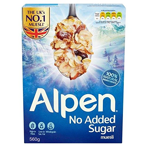 Alpen Swiss Style Muesli No Sugar Added Breakfast Cereal Wholegrain 560g By Thaidd by Alpen