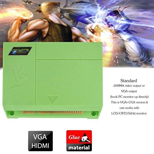 999 in 1 JAMMA PCB Pandora's Key Box 5s Arcade Multigame Board Green by ExGizmo