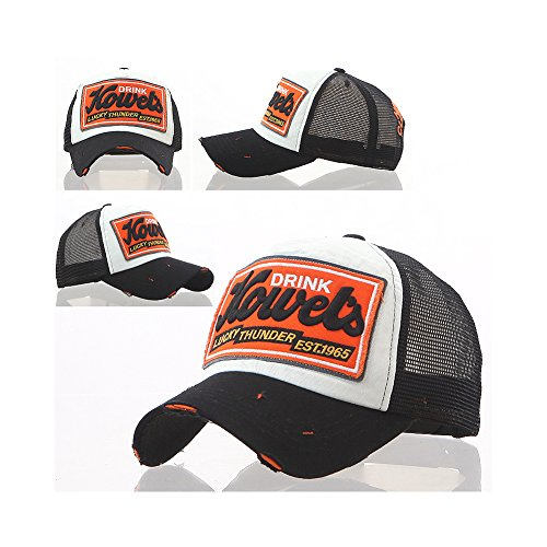 ee97c65561e Drink Howel s Distressed Vintage Cotton Baseball Mesh Cap Snapback Trucker  by Brooklyn Urban Supply (Black) - Buy Online in Kuwait.