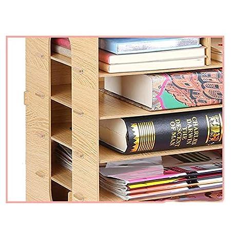 Couleur : Noir GaoJinZhuan Tiroir en Bois de Bureau Biblioth/èque de Finition de Bureau Rack de classement Multifonction Combination Box