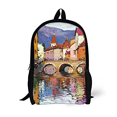 ThiKin Painting Children Backpack Cute Kids School Book Bags