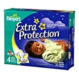 pampers baby extra protection - Pampers Baby Dry Overnight Extra Protection Diapers, Size 4, 30-Count (Pack of 4)