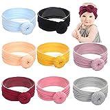 Baby Nylon Elastic Knotted Headbands Baby Head Wraps Baby Headbands Bows: more info