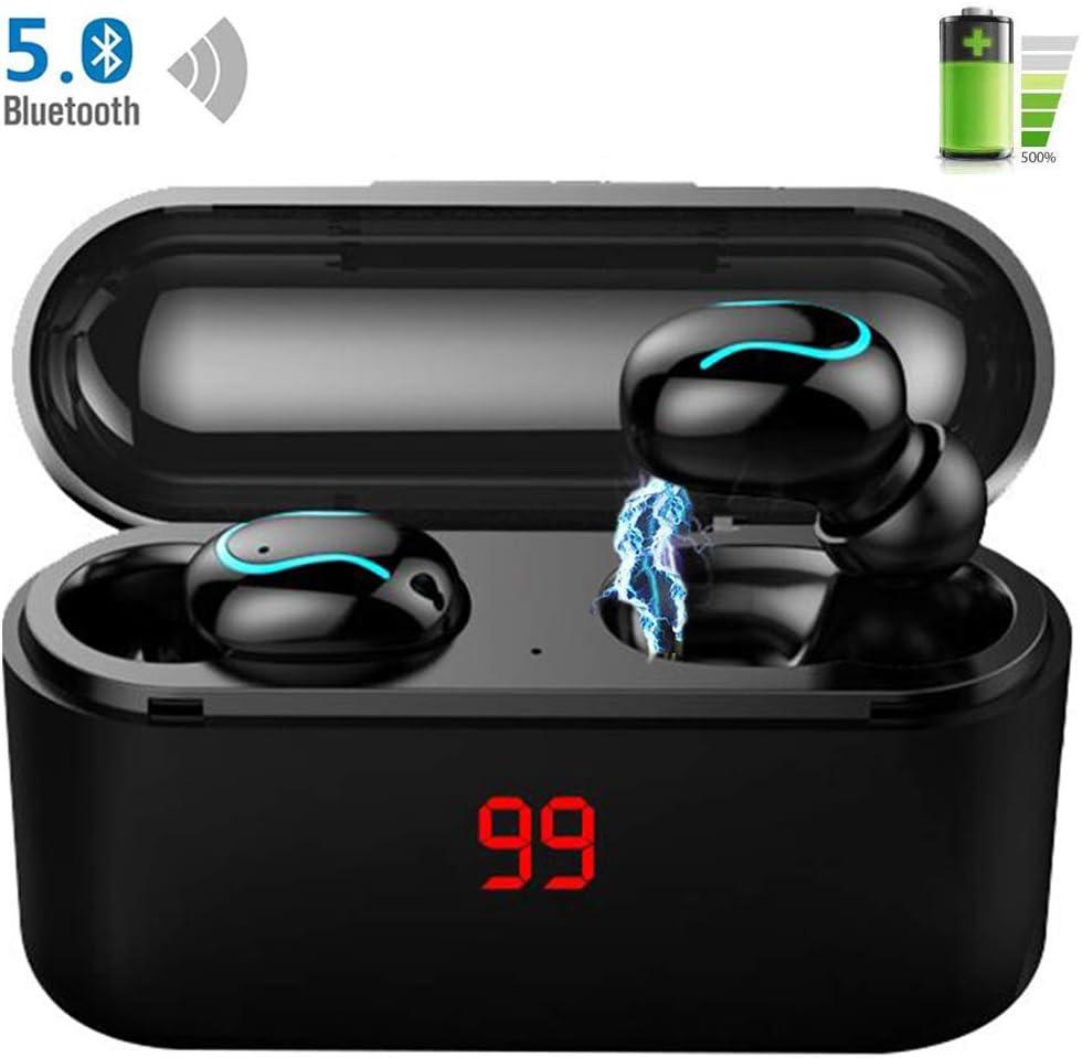LTPAG HD Auriculares Inalámbricos Bluetooth, Hi-Fi 8D Estéreo Deportivos Inalámbricos Bluetooth Auriculares Micrófonos Dual Incorporado Audífonos Bluetooth, IPX7 Impermeable