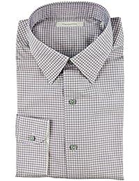 Italy Purple Plaid Classic Fit Shirt 18 45 2XL XL