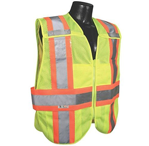 Radians SV24-2ZGM-M/L Polyester Mesh Class-2 Breakaway Expandable Two Tone Vest by Radians