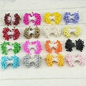 800Pcs 5Mm Mini Pearl Stamen Artificial Flower For Wedding Decoration Diy Pompom Scrapbooking Decorative Wreath Fake Flowers 103