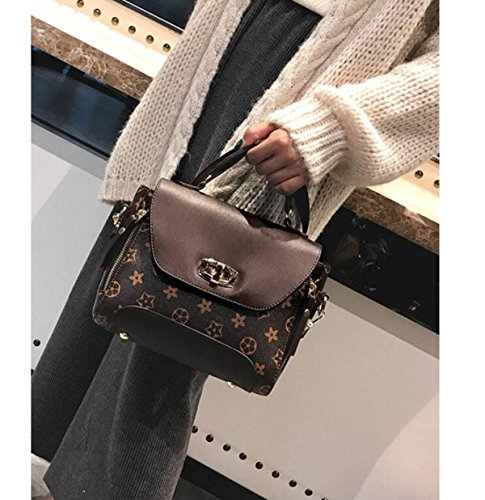 Version Temperament Old Single Bag Wild Personality Flower Messenger Lady Brown The Creative Of Bag Korean fY41qR1