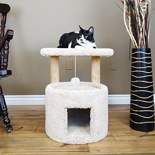 New Cat Condos Premier Wood/Carpet 24-inch Cat Sleeper Beige