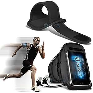 ONX3 Alcatel One Touch Hero Leather Slip protectora magnética de la PU de cordón en la bolsa con el caso de Quick Release, 360 Rotación del parabrisas del coche cuna y mini capacitiva lápiz bolígrafo retráctil (Hot Pink)