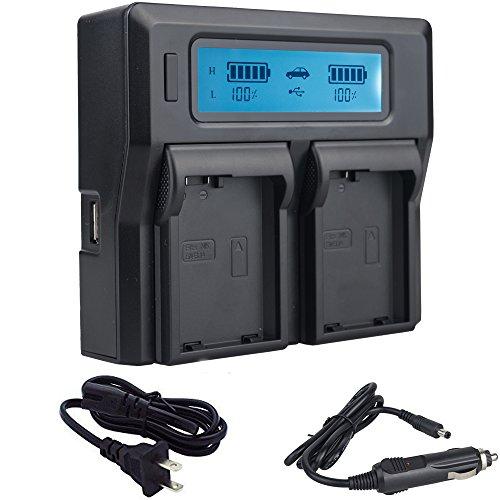 TOP-MAX Dual LCD USB EN-EL14 EN-EL14A Charger for Nikon D5500, D3400, D3300, D5300, D5600, D5200, D3200, D3100, D5100, DF DSLR, Coolpix P7700, P7000, P7800, P7100 Cameras,MH-24 Charger