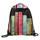 ZQWEOO Antique Books A Drawstring Backpack Design Casual Nice For Men