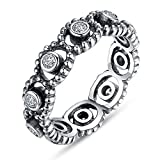 F&F Ring Sterling Silver LOVE ROMANCE Ring Fine Jewelry for Women Wedding Rings