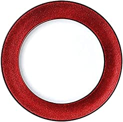 Round Charger Dinner Plates Red White 13 inch Set of 1246 or 12 (12)  sc 1 st  Amazon.com & Amazon.com: Red - Plastic / Dinner Plates / Plates: Home u0026 Kitchen