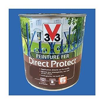 Peinture V33 Fer Direct Protect Bleu Vendée Amazonfr Bricolage