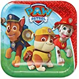 American Greetings 581462 Paw Patrol Party Supplies, Disposable Paper Dessert Plate, 8-Count