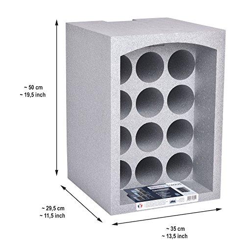 Talous BuonVino Set de 2 Botelleros estantería caja vino apilable corcho poliestireno 24 botellas Aislante 35x29,5x50 cm: Amazon.es: Hogar