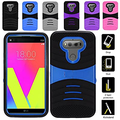 Zizo UCASE for LG V20 Hybrid Dual Layer w/ Silicon Rugged Shell - Heavy Duty Protective Phone Cover - Case w/ Shockproof Protection And Kickstand