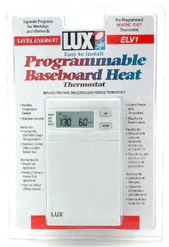 Lux Products ELV4-A05 Programmable Thermostat for Radiant Heat Jensen