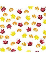 700 Pieces Maple Leaf Confetti Glitter Pumpkin Decorations Table Confetti Pumpkin Confetti for Halloween, Thanksgiving, Autumn Party Decoration, DIY Funny Decoration Fashion