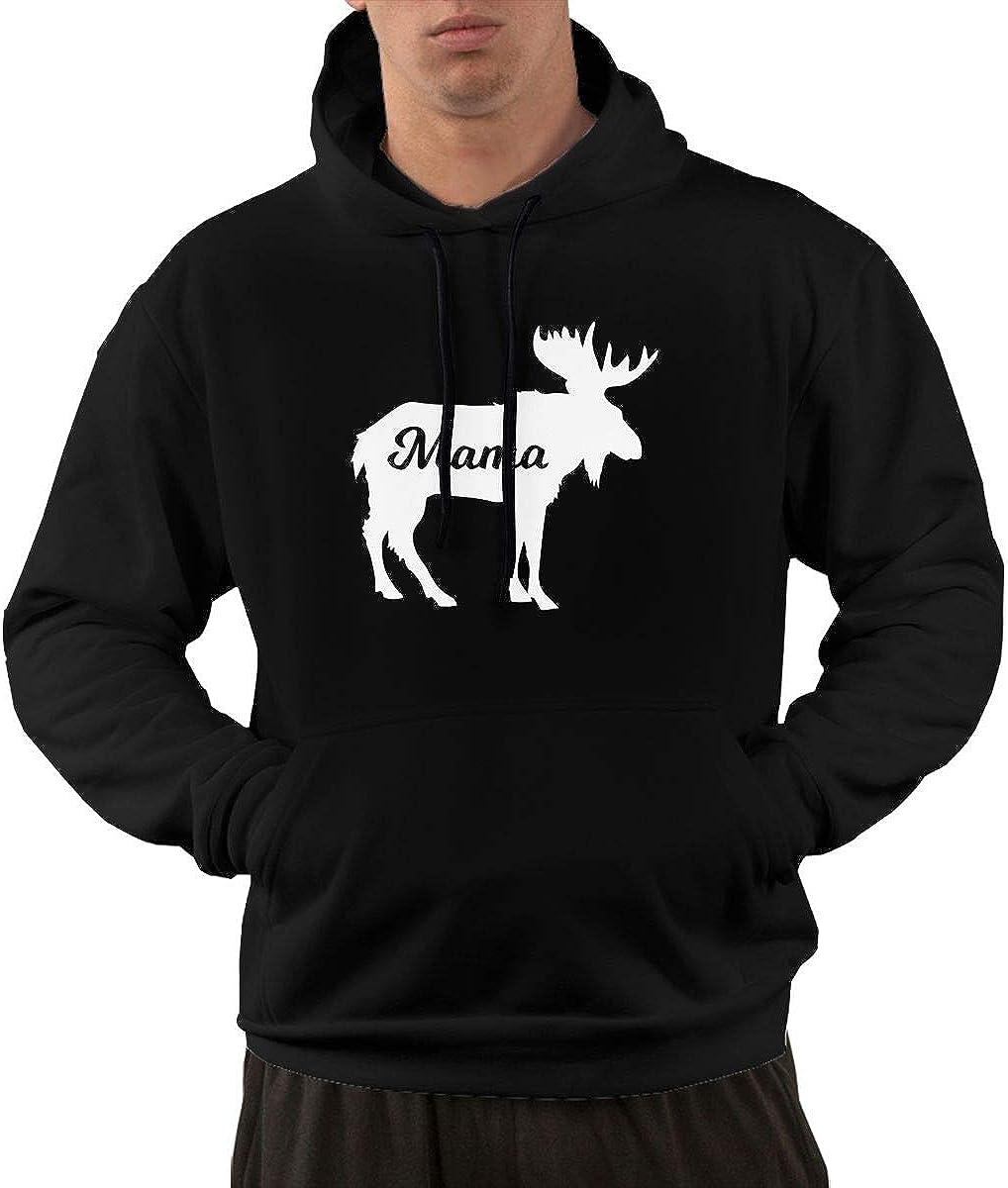 Jiongjiu/&256 Mens Sports Sweatshirt Mama Moose Pockets Outer Jacket