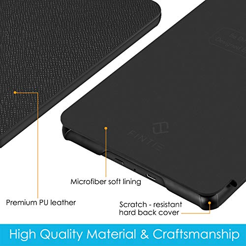 Fintie Slimshell Case for All-New Kindle (10th Generation, 2019 Release) - Lightweight Premium PU Leather Protective Cover with Auto Sleep/Wake (NOT Fit Kindle Paperwhite or Kindle 8th Gen), Black