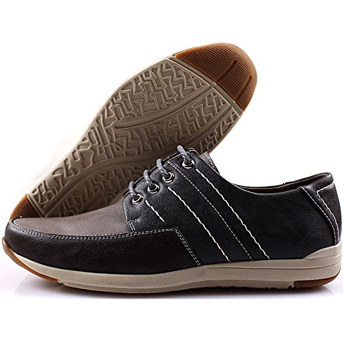New Polytec Modern Casual Formal Lace up Oxford Men Dress Sneakers Shoes Gray UExoMX