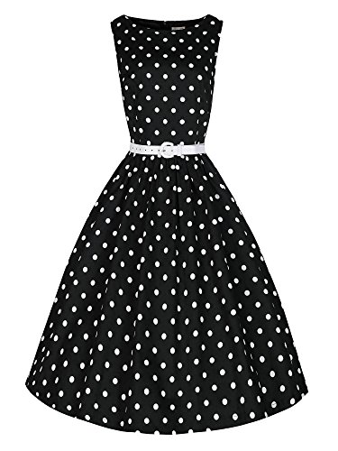 LUOUSE-Vintage-50s-Hepburn-Style-Swing-Party-Rockabilly-Cocktail-Dress