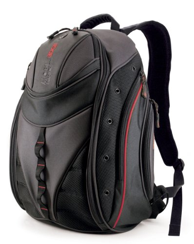 Mobile Edge Express Backpack- 16-Inch PC 17-Inch Mac Black Red