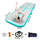 86 York Air Track – Inflatable Gymnastics Tumbling Mat – Practice Gymnastics, Cheerleading, Tumbling, Free Running (Parkour), and Martial Arts – Great for Home, Outdoor, or Gym Use 10ftx16inchx4inch
