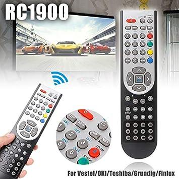 Calvas RC-1900 - Mando a Distancia para Vestel/Oki/Toshiba/Grundig/Finlux 1 Pieza RC1900 de Repuesto para televisor LCD: Amazon.es: Bricolaje y herramientas