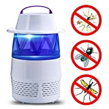 Howley USB LED Electric Mosquito Killer Night Light,Smart Optically Controlled Insect Killing Lamp,Fly Insect Bug Mosquito Kill Zapper Killer Fly Trap (White)