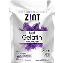 Zint 2 Lb Pasture Raised Pure Beef Gelatin for Collagen Joint Health – Non-GMO Certified - Unflavored, Kosher