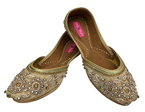 Step n Style - Sandalias de vestir para mujer dorado cobrizo