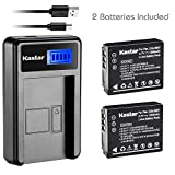 Kastar Battery (X2) & LCD Slim USB Charger for Panasonic CGA-S007, CGA-S007A, CGR-S007, CGAS007 and Panasonic DMC-TZ1 DMC-TZ2 DMC-TZ3 DMC-TZ4 DMC-TZ5 DMC-TZ11 DMC-TZ15 DMC-TZ50 Digital Camera