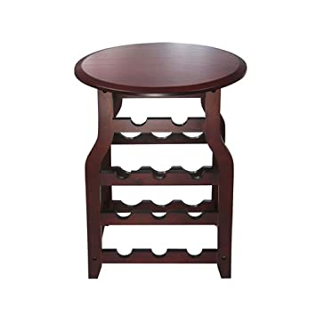 proman products wine table with rack - Wine Rack Table