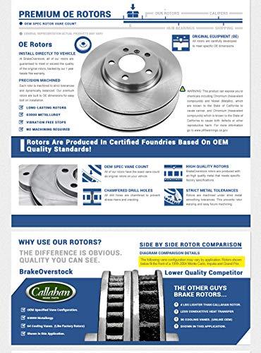 2 Callahan CRK14318 FRONT Premium Grade OE 277.8 mm fit Mazda 3 2.0L 2004-2012 Rotors Set